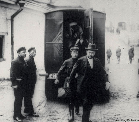 State of fear: Suspects being escorted into Moscow's Lubyanka prison in 1928