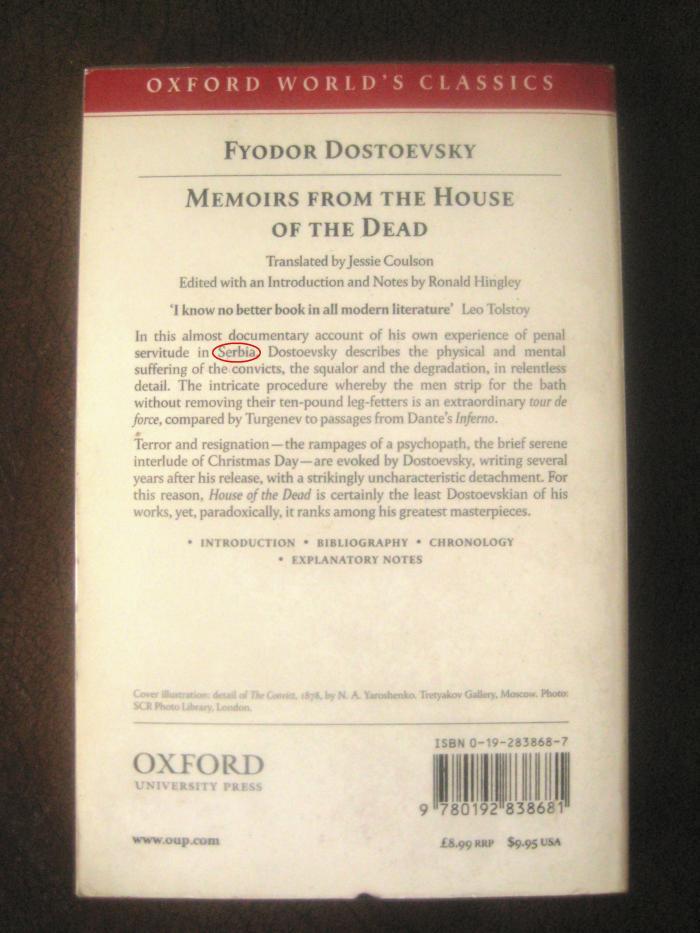 Dostoevsky Goes to Siberia