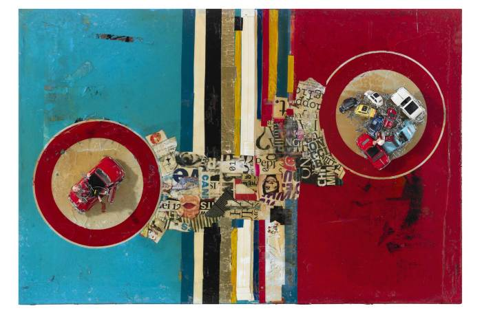 "INFANZIA - Mixed Media on Wood, 35.4"" x 53.1 by Monica Maroni."
