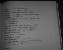 """From """"Sa Lalong Madaling Panahon,"""" a poem by Gelacio Guillermo."""