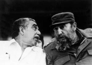 Gabriel Garcia Marquez with Fidel Castro.