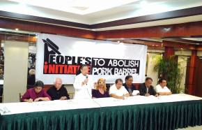 Various groups unite to propose law abolishing pork barrel system