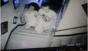 CCTV footage of Jennifer Laude with suspect PFC Pemberton entering an Olongapo City lodge. Photo Credits: kapederasyon.wordpress.com