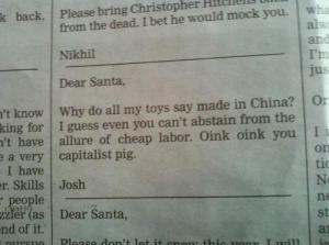 A Note to Santa. Photo Credits: http://actualfunnypictures.com/a-note-to-santa.