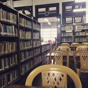 Filipiniana section of the College of Education library.